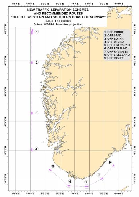 kart grader Forskrift om endring i forskrift om sjøtrafikk i bestemte farvann  kart grader